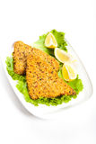 Fish dish. Fried fish fillet Stock Photo
