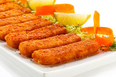 Fried fish fingers Stock Image