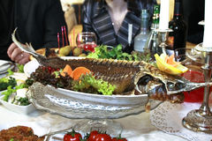 Fish dish, sturgeon Royalty Free Stock Photos
