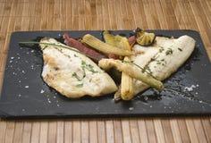 Fish dish to stone Royalty Free Stock Photos