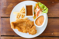 Fish dolly Steak Royalty Free Stock Images