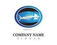 Fish and dolphin Logo Template. Fish and dolphin drop Logo Template royalty free illustration
