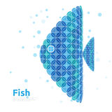 Fish in dove sea Royalty Free Stock Photo