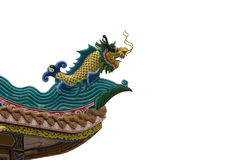 Fish dragon. On top roof Stock Images