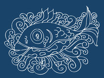 Fish Drawing Royalty Free Stock Image