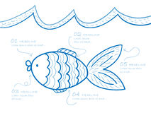 Fish drawing Stock Image