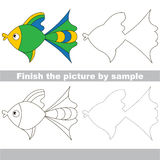 Fish. Drawing worksheet. Royalty Free Stock Photos