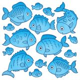 Fish drawings theme image 2. Eps10 vector illustration Stock Images