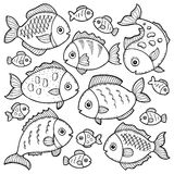 Fish drawings theme image 1. Eps10 vector illustration Royalty Free Stock Photos
