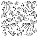Fish drawings theme image 3. Eps10 vector illustration Stock Photography