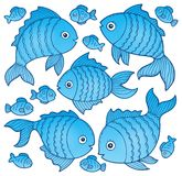 Fish drawings theme image 4. Eps10 vector illustration Stock Images