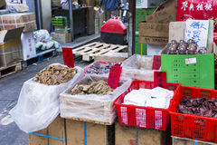 Fish dried store Royalty Free Stock Photo
