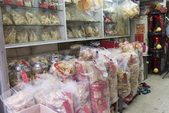 Fish dried store Royalty Free Stock Photos