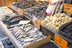 Fish dried store Stock Photography