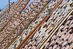 Fish drying outside Stock Photo