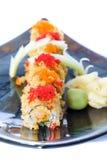 Fish Eggs on Sushi Stock Image