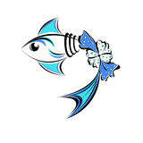 Fish emblem Royalty Free Stock Images