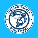 Fish emblem logo template Stock Image