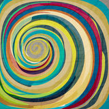 Fish eye. Abstract wallpaper with colorful swirl on textured paper Royalty Free Stock Photography