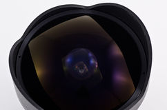 Fish eye lens Royalty Free Stock Photos