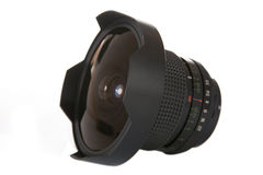 Fish-eye lens Royalty Free Stock Images