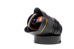 Fish-eye lens Royalty Free Stock Photo