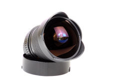 Fish-eye lens Royalty Free Stock Image