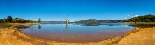 Fish Eye Lens Photography of Lake Under Clear Skies during Daytime Stock Photo