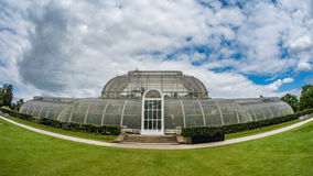 Fish eye of the Palm house in Kew gardens, London Stock Photos