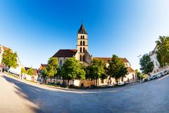 St. Dionysius church at market square of Esslingen Stock Photography