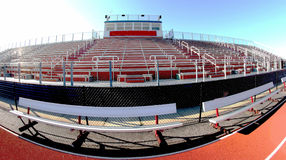 Fish eye picture of High school bleachers Stock Images