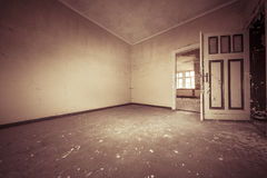 Fish eye shoot of a empty dirty room Royalty Free Stock Images