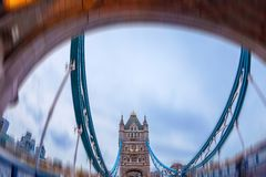 Fish Eye view architecture from Tower Bridge Stock Photography