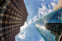 Fish-Eye View of the Berlin Skyline. Germany. Summer Royalty Free Stock Photography