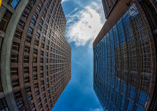 Fish-Eye View of the Berlin Skyline. Germany. Summer Stock Images