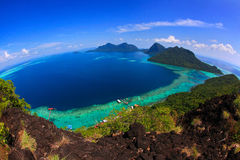 Fish eye view from bohey dulang Royalty Free Stock Photo