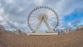 Fish eye view of the Brighton wheel, dismantled in 2016 Royalty Free Stock Photography