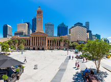 Fish eye view of Brisbane City Hall Stock Photography