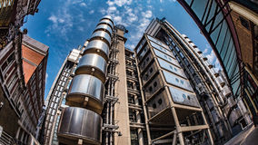 Fish eye view of buildings in the financial district of the City of London Stock Image