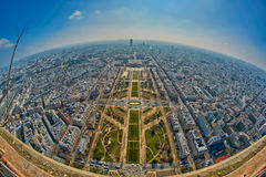 Fish-Eye view on Champs de Mars, Paris Royalty Free Stock Images