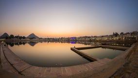 Fish eye view from the ghats at Pushkar, Rajasthan, India Stock Photography