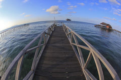 Fish eye view of mabul island Stock Photography