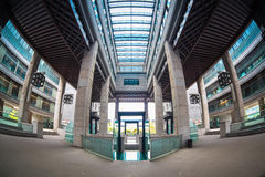 Fish-eye view of modern building Stock Photos