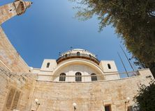 Fish-eye View Of Hurva Synagogue In Jerusalem Stock Images