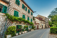 Fish-eye view of the old city on sky background Royalty Free Stock Image