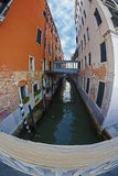 Fish eye view at one Canal in Venice, Italy 3 Royalty Free Stock Images