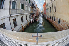 Fish eye view at one Canal in Venice, Italy 2 Stock Photography