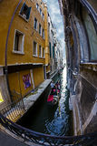 Fish eye view at one Canal in Venice, Italy 4 Stock Photos