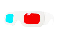 Fish-eye view of red-and-blue disposable glasses Stock Photography
