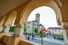 Fish eye view with Saint Michael Roman Catholic Cathedral Royalty Free Stock Image